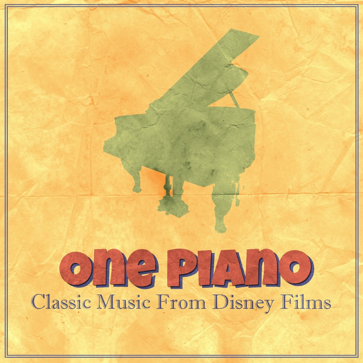 Classic Music From Disney Films One Piano CD cover