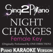 Night Changes (Female Key) [Originally Performed By One Direction] [Piano Karaoke Version]