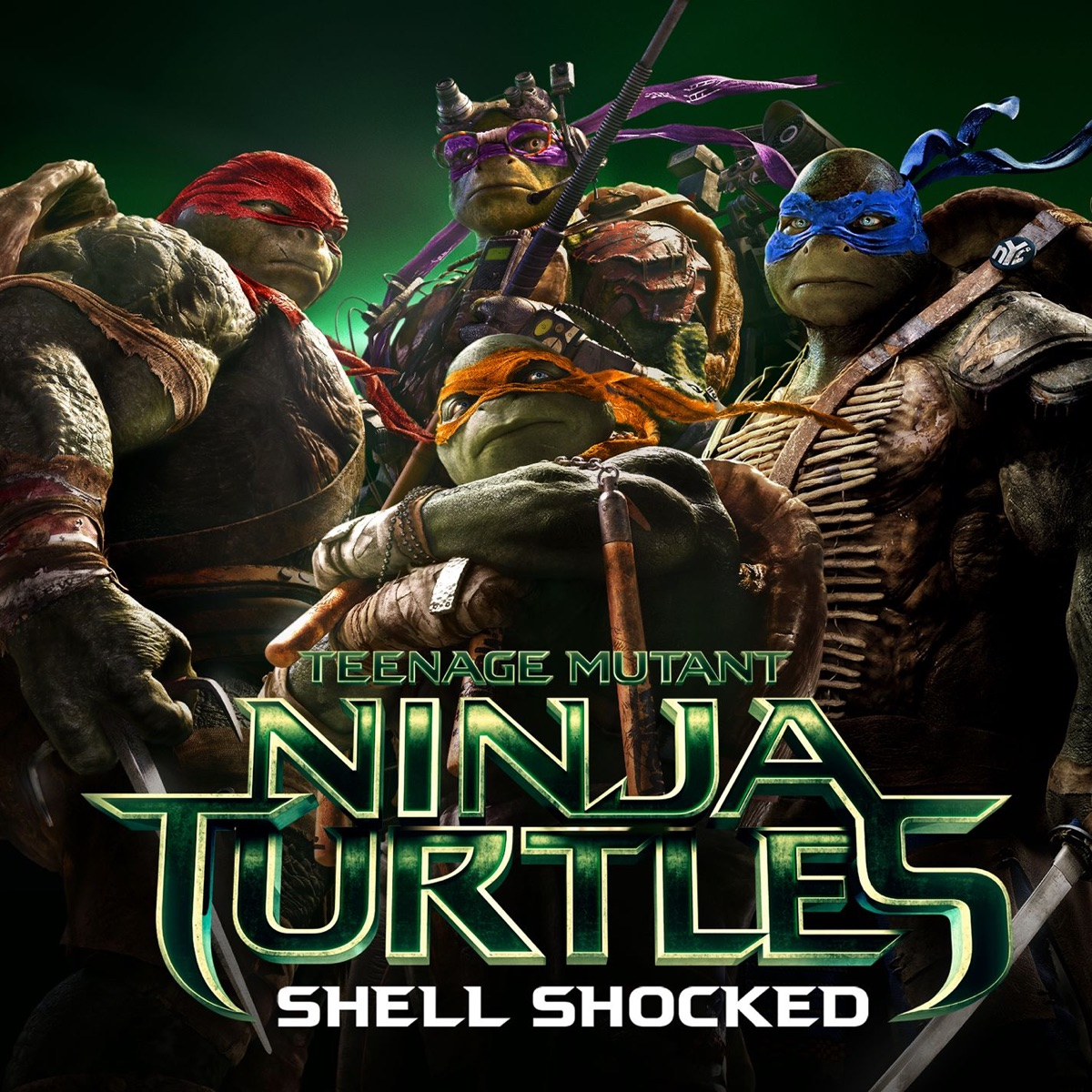 Shell Shocked feat Kill the Noise  Madsonik From Teenage Mutant Ninja Turtles - Single Juicy J Wiz Khalifa  Ty Dolla ign CD cover