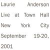 Laurie Anderson - Let X=X (Live) artwork