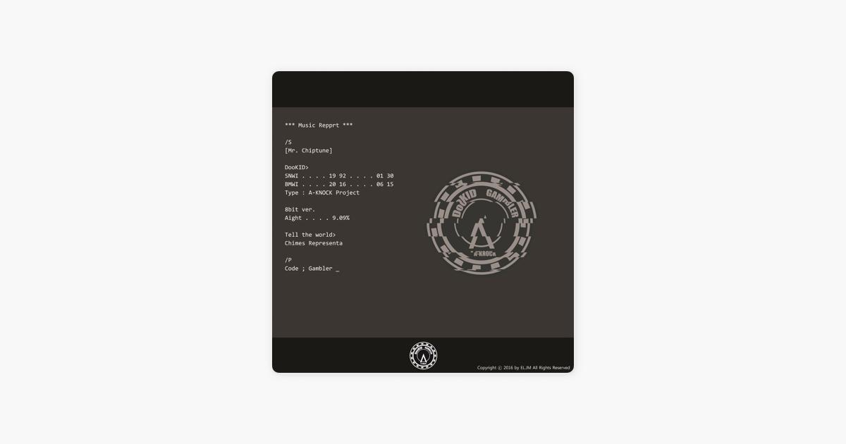 Mr Chiptune Code Gambler Version Single By Dukideu On Apple Music
