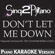 Don't Let Me Down (Originally Performed by the Chainsmokers & Daya) [Piano Karaoke Version] - Sing2Piano