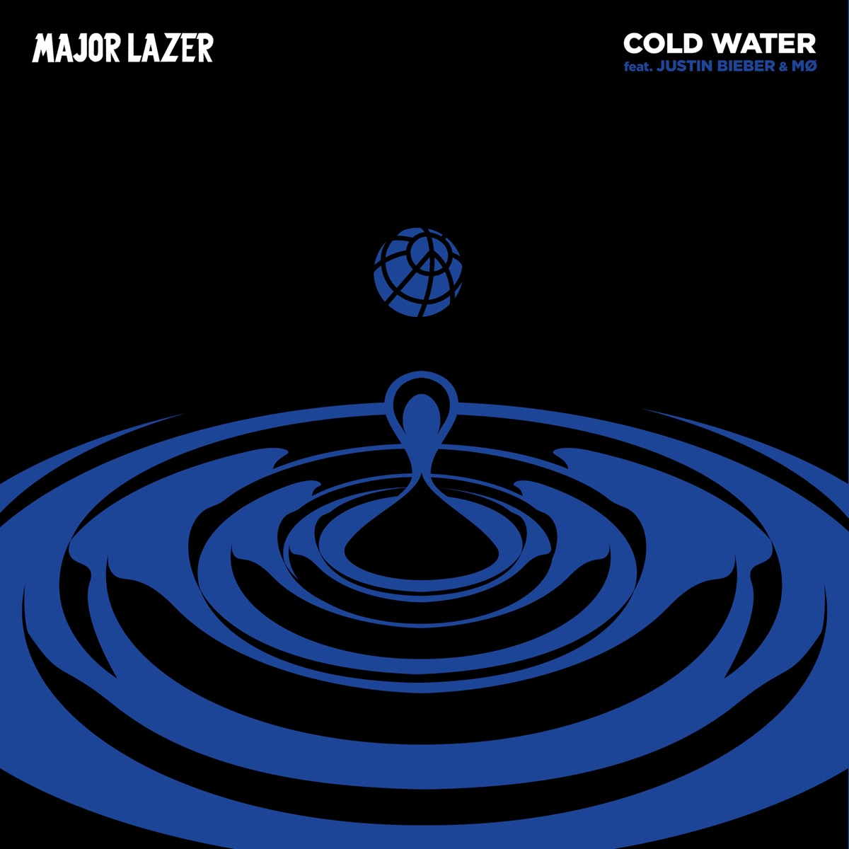 Cold Water feat Justin Bieber  MØ - Single Major Lazer CD cover