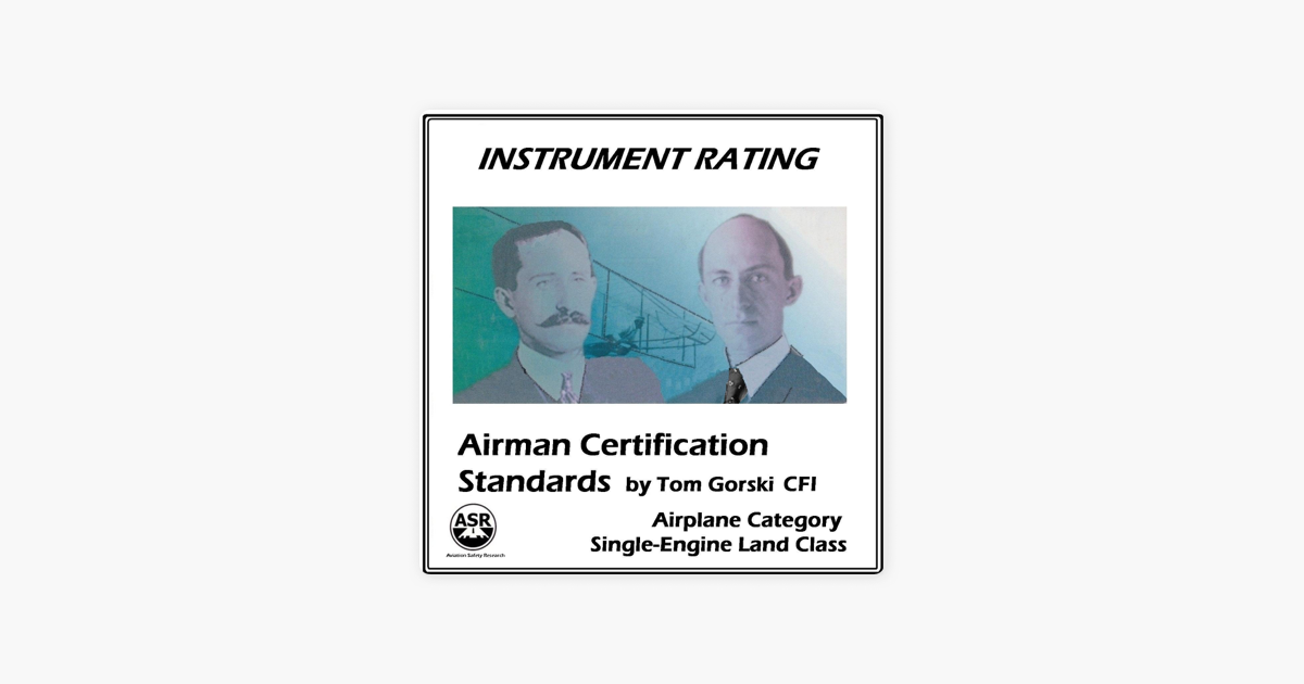 Instrument Rating Airman Certification Standards Asel By Tom