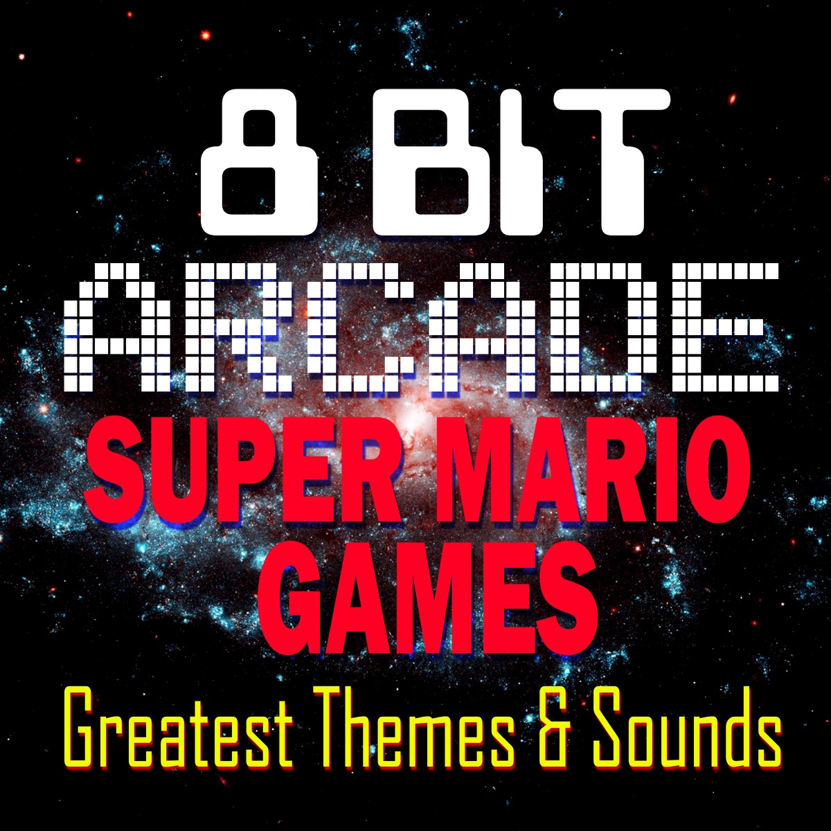 Super Mario Games - Greatest Themes  Sounds 8-Bit Arcade CD cover