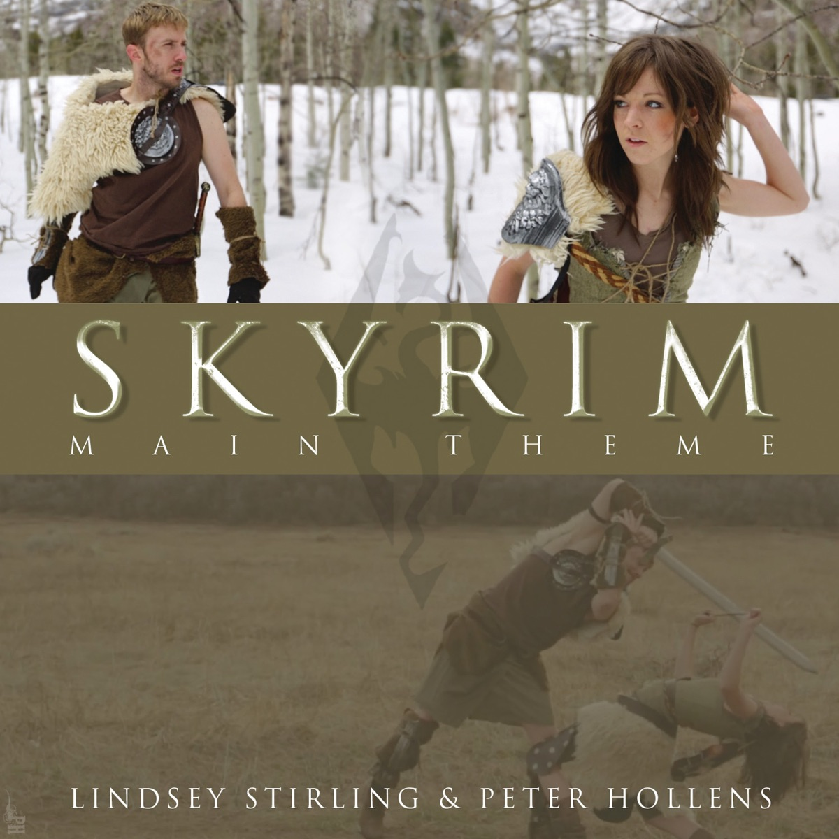 Skyrim Main Theme - Single Peter Hollens  Lindsey Stirling CD cover