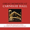 Great Moments at Carnegie Hall - Selected Highlights ジャケット写真