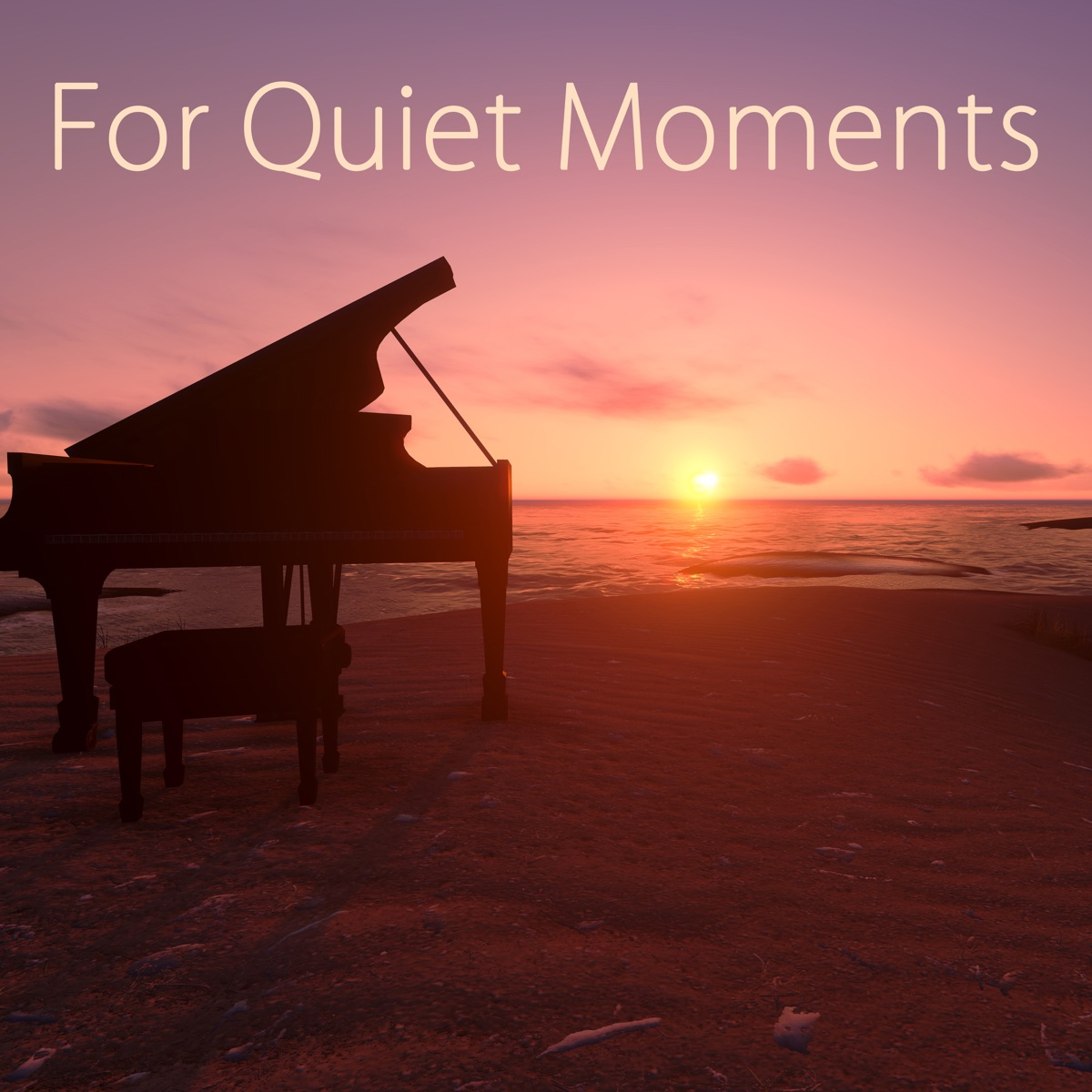 For Quiet Moments – 50 Relaxing Piano Music Album Cover by Relaxing
