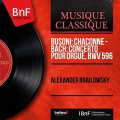 Chaconne (After Violin Partita No. 2, BWV 1004 by Johann Sebastian Bach)