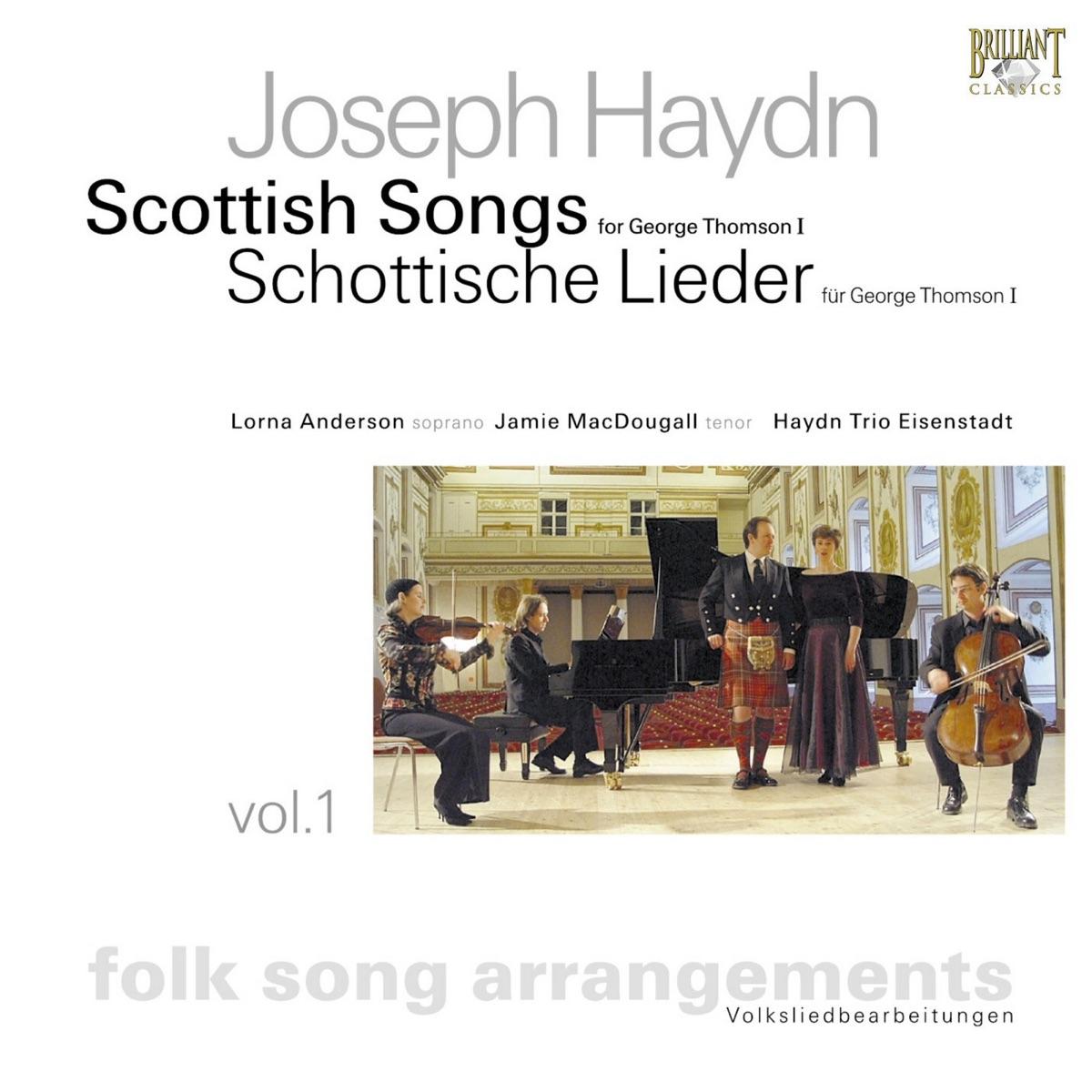 Haydn Scottish Songs Vol 1 Lorna Anderson Jamie MacDougall  Haydn Trio Eisenstadt CD cover