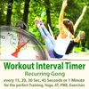 Workout Interval Timer: Recurring Gong for the Perfect Training, Yoga, AT, PME, Exercises - Every 15, 20, 30 Sec, 45 Seconds or 1 Minute - Torsten Abrolat