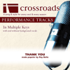 Crossroads Performance Tracks - Thank You (Made Popular By Ray Boltz) [Performance Track] artwork