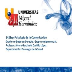 Psicología de la Comunicación (umh1428sp)