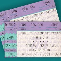 Phish: 8/7/93 Darien Lake Performing Arts Center, Darien Center, NY (Live) - Phish Album Cover