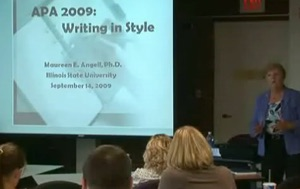 APA Workshop: Writing in Style - Supporting Documentation