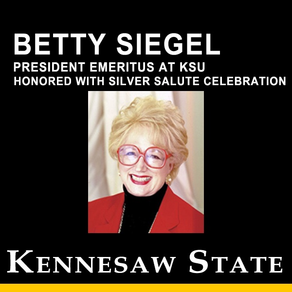 Betty Siegel, President Emeritus at KSU, Honored with Silver Salute