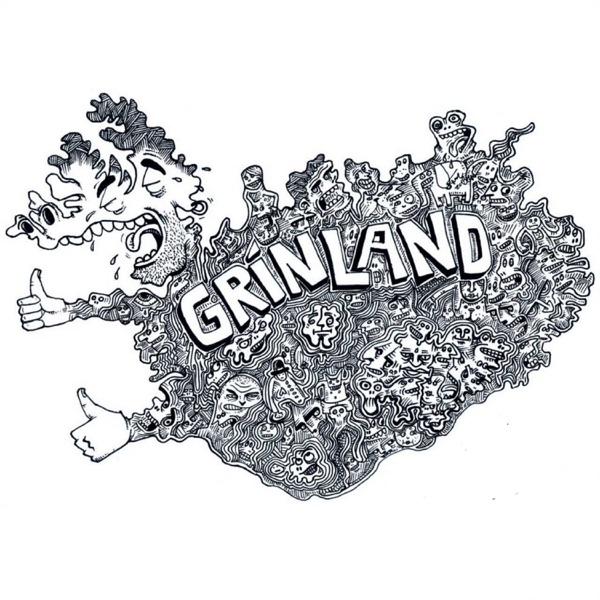 Grínland banner backdrop