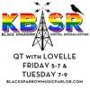 QT with LOVELLE on KBSR Black Sparrow Radio Taylor Texas artwork