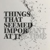 Things That Seemed Important At The Time artwork
