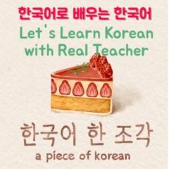 한국어 한 조각 a Piece of Korean