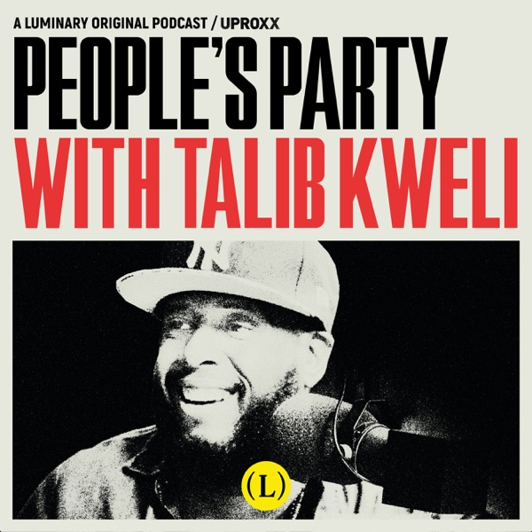 People's Party with Talib Kweli banner backdrop