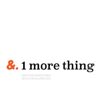& 1 more thing. podcast