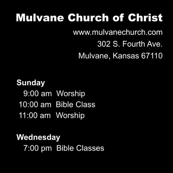 Mulvane Church Of Christ Sermons