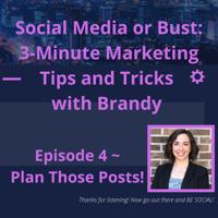 Social Media: Plan Those Posts! podcast