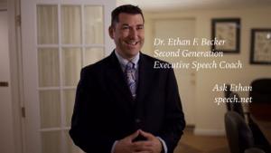 Dr. Ethan Becker, speech coach