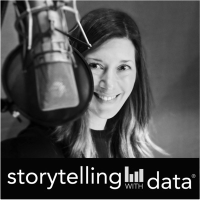 storytelling with data podcast:storytelling with data author, speaker and dataviz guru Cole Nussbaumer Kna
