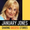 January Jones sharing Success Stories artwork