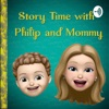 Story time with Philip and Mommy!  artwork