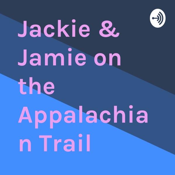 Jackie & Jamie on the Appalachian Trail banner backdrop