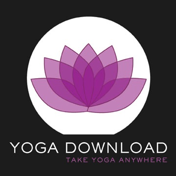 20 min. Yoga Sessions from YogaDownload.com banner backdrop
