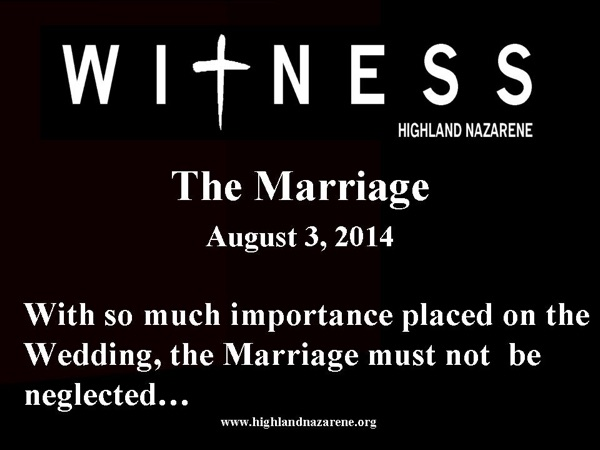 Highland Nazarene - The Marriage