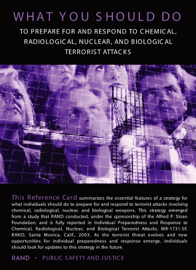 Individual Preparedness and Response to Chemical, Radiological, Nuclear, and Biological Terrorist Attacks book