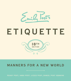 Emily Post's Etiquette, 18 book