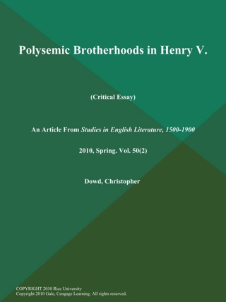 Christopher Dowd On Apple Music Polysemic Brotherhoods In Henry V Critical Essay Essay On Health Promotion also High School Admission Essay Examples  Custom Papaers