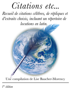 Citations etc... La couverture du livre martien