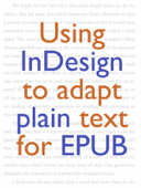 Using InDesign to adapt plain text for EPUB