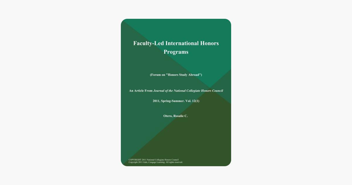 Faculty-Led International Honors Programs (Forum on