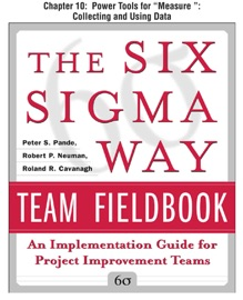 THE SIX SIGMA WAY TEAM FIELDBOOK, CHAPTER 10 - POWER TOOLS FOR