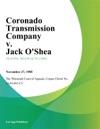 Coronado Transmission Company V Jack OShea
