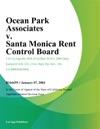 Ocean Park Associates V Santa Monica Rent Control Board