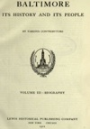 Baltimore Its History And Its People Vol III