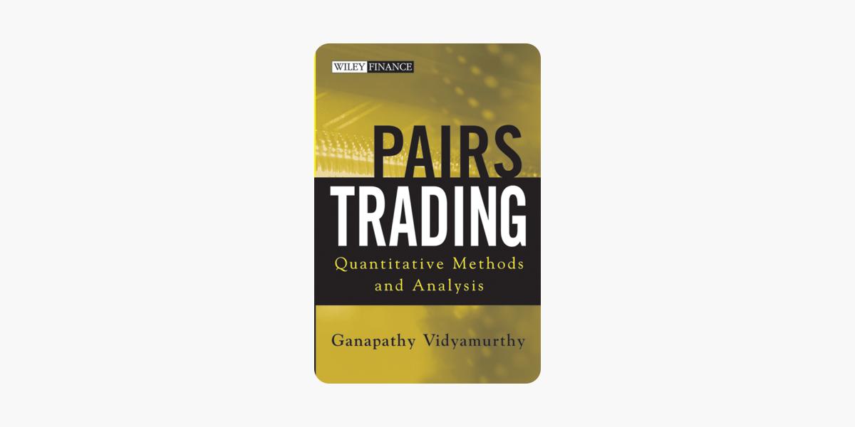 pairs trading ganapathy vidyamurthy