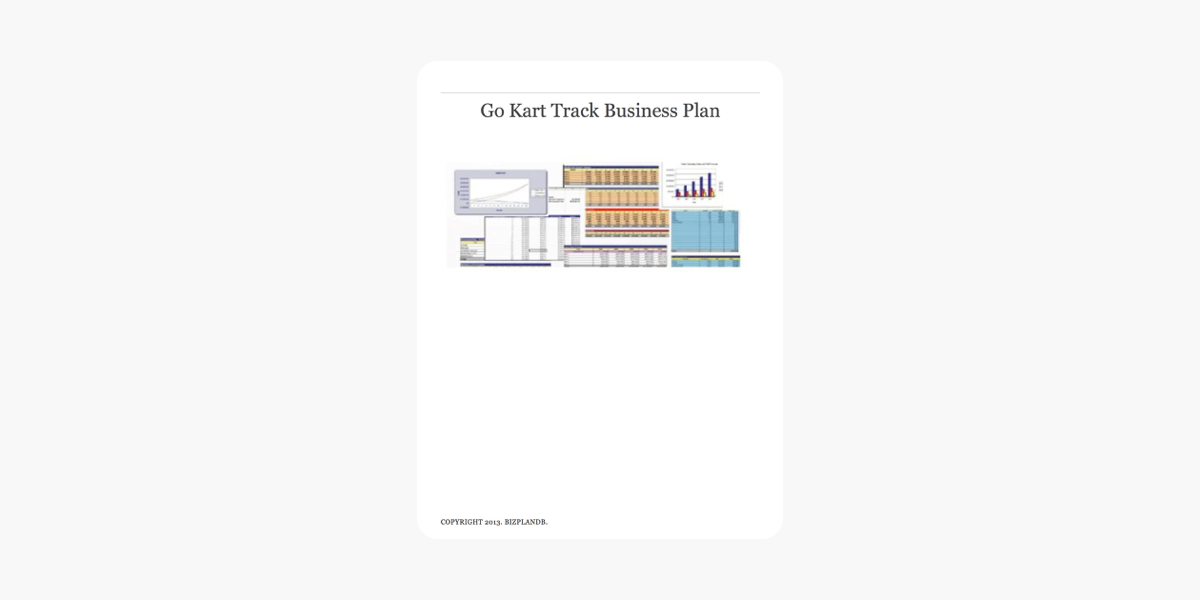 business plan kartodromo
