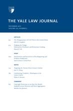 Yale Law Journal: Volume 122, Number 3 - December 2012