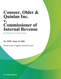 Consoer, Older & Quinlan Inc. v. Commissioner of Internal Revenue