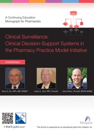 Clinical Surveillance Clinical Decision Support Systems In The Pharmacy Practice Model Initiative